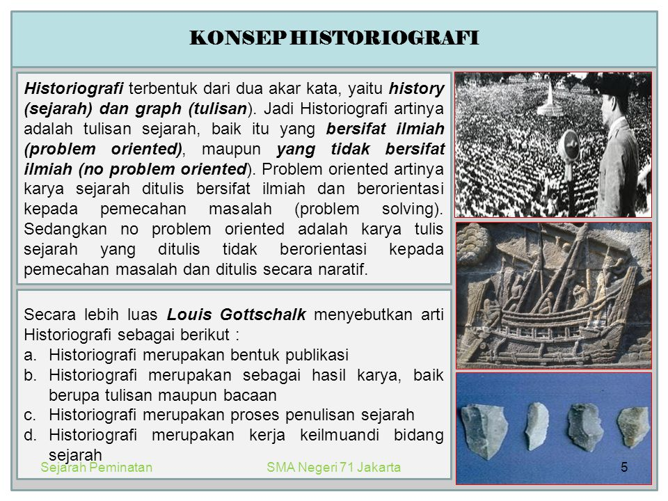 KONSEP HISTORIOGRAFI
