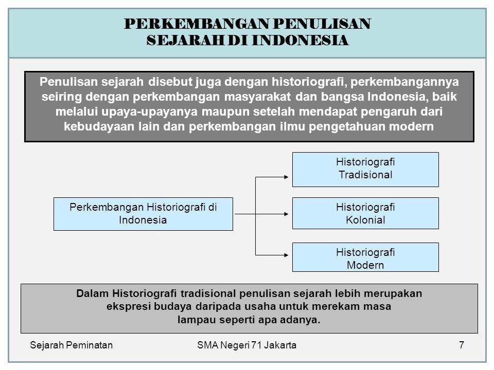 PERKEMBANGAN PENULISAN SEJARAH DI INDONESIA