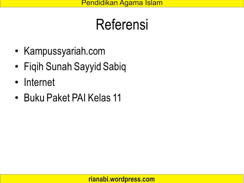Referensi Kampussyariah.com Fiqih Sunah Sayyid Sabiq Internet