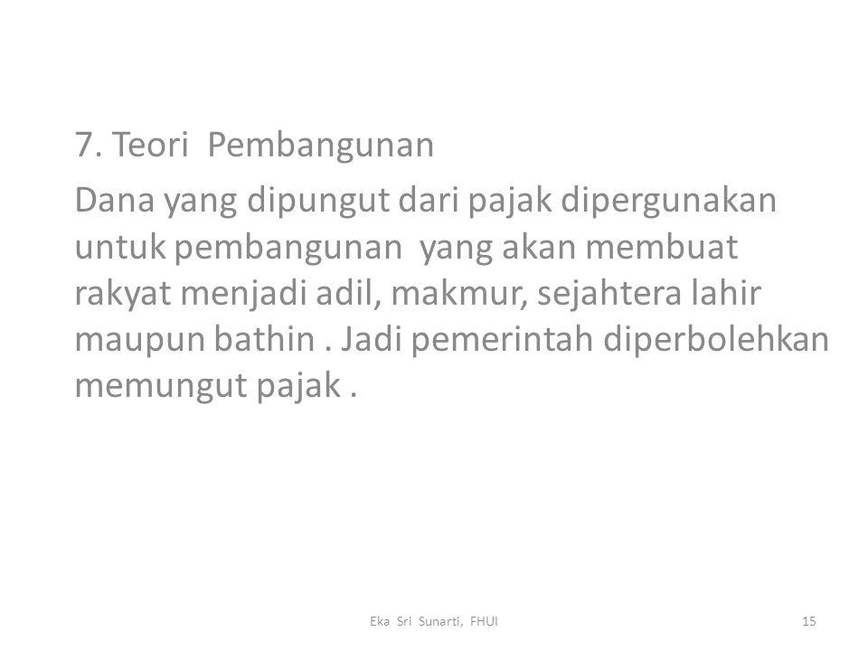 7. Teori Pembangunan