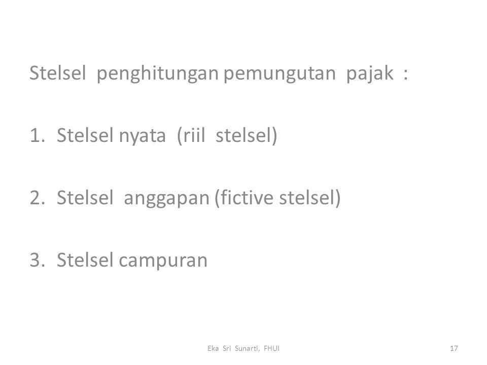 Stelsel penghitungan pemungutan pajak : Stelsel nyata (riil stelsel)