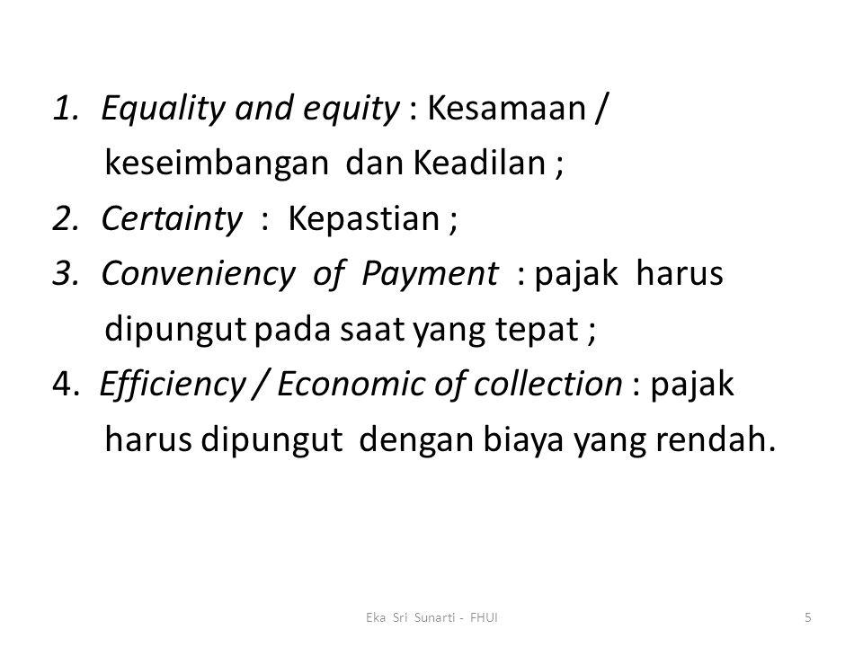 Equality and equity : Kesamaan / keseimbangan dan Keadilan ;