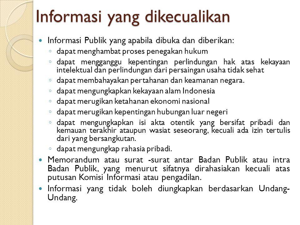 Informasi yang dikecualikan