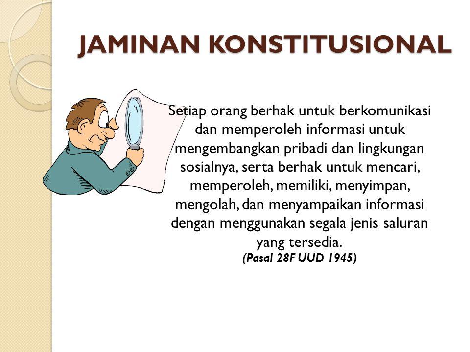 JAMINAN KONSTITUSIONAL