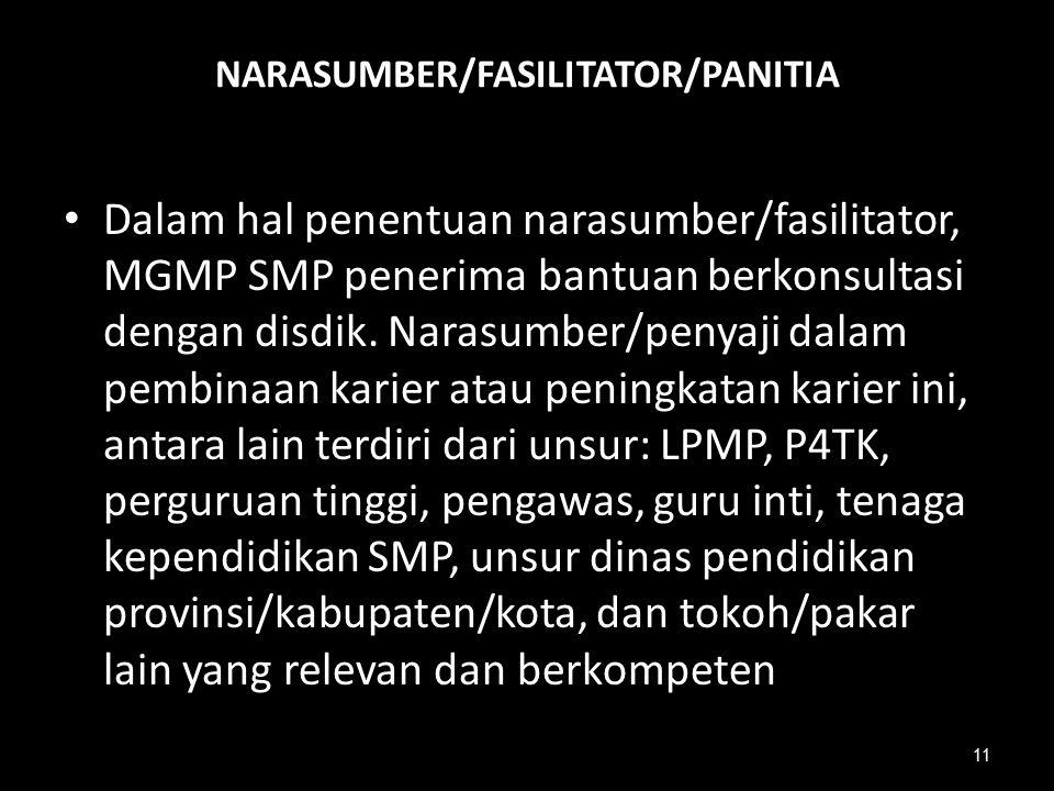 NARASUMBER/FASILITATOR/PANITIA