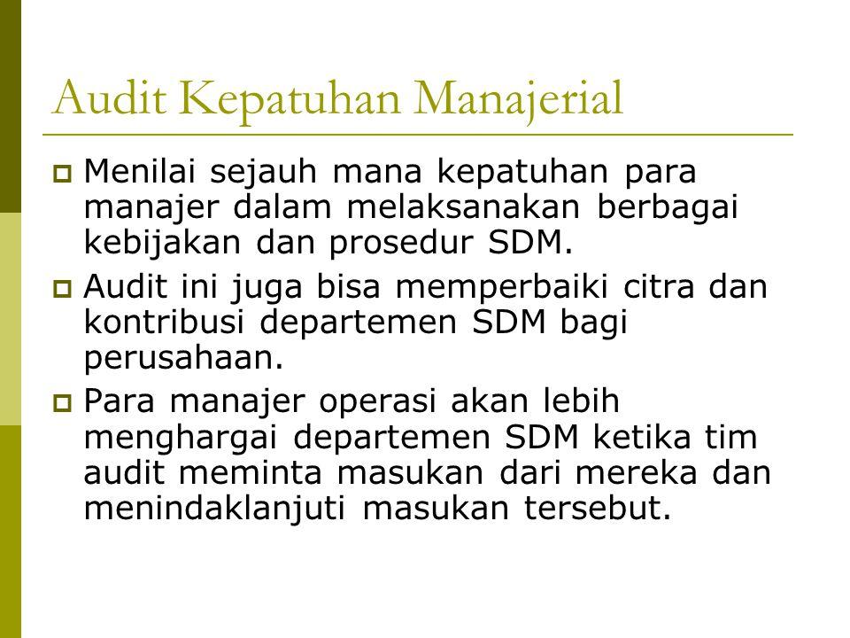 Audit Kepatuhan Manajerial
