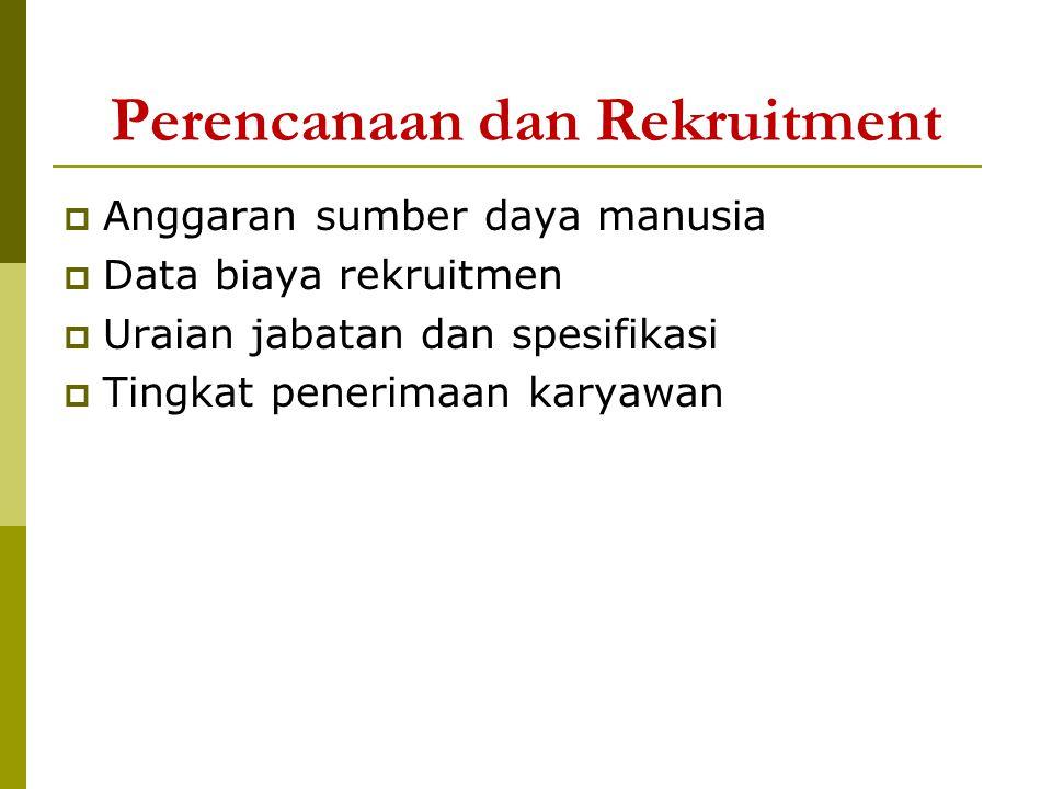 Perencanaan dan Rekruitment
