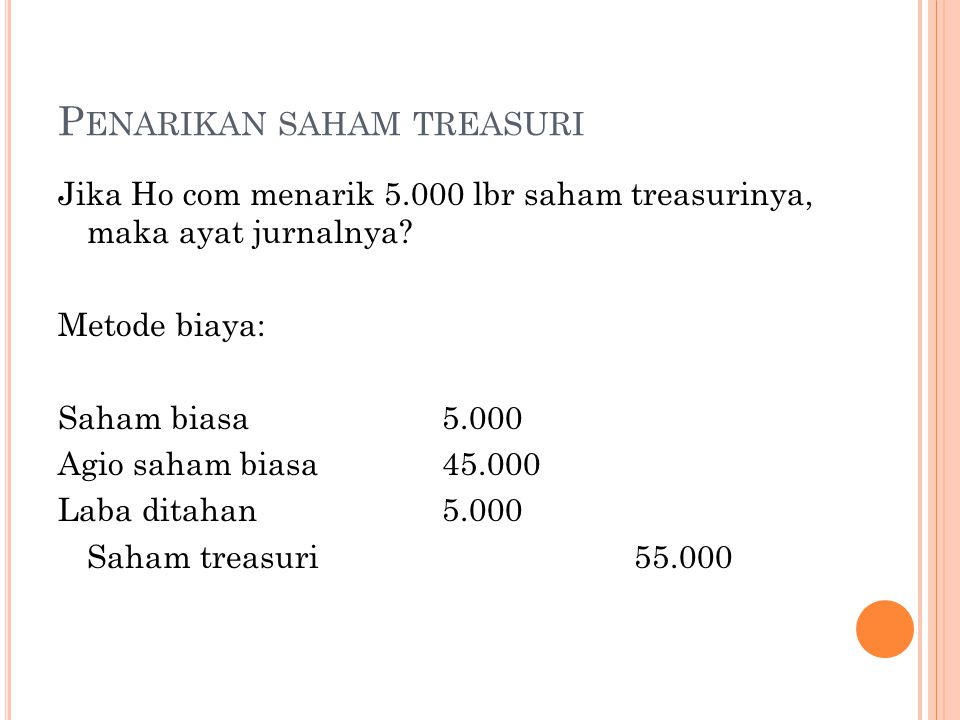 Penarikan saham treasuri