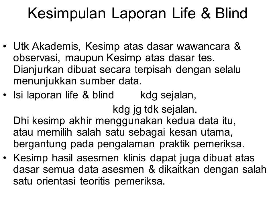 Kesimpulan Laporan Life & Blind