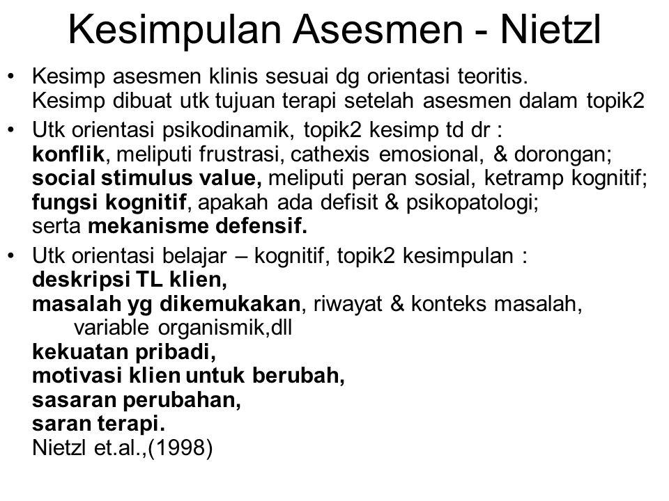 Kesimpulan Asesmen - Nietzl