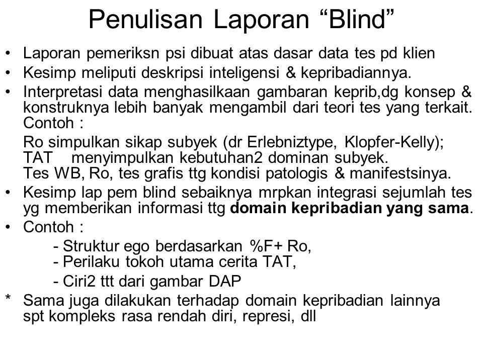 Penulisan Laporan Blind