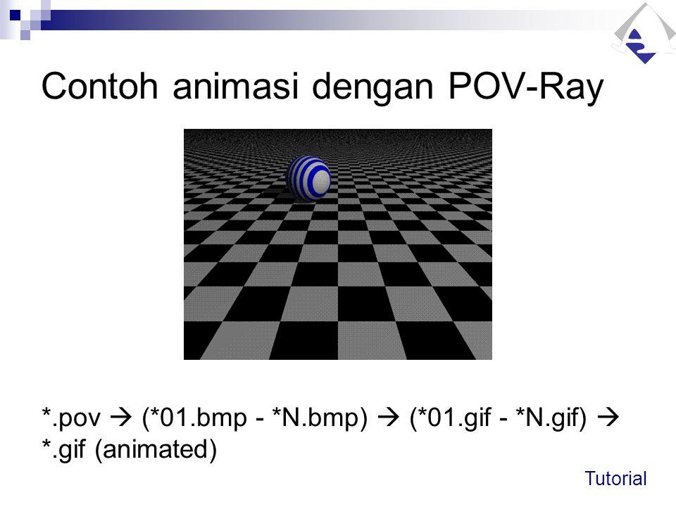 Contoh animasi dengan POV-Ray