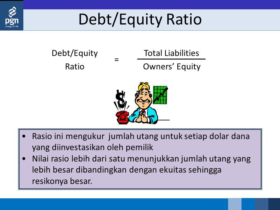 Debt/Equity Ratio Total Liabilities Owners' Equity Debt/Equity Ratio =