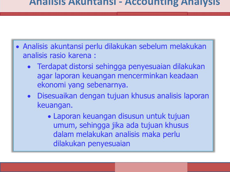 Analisis Akuntansi - Accounting Analysis