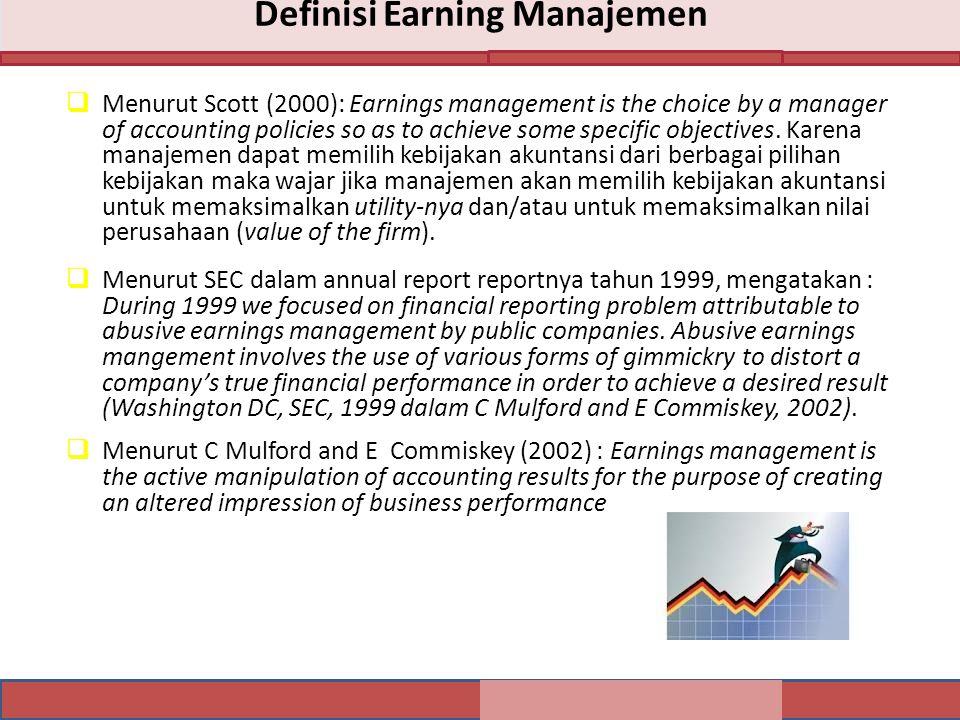 Definisi Earning Manajemen