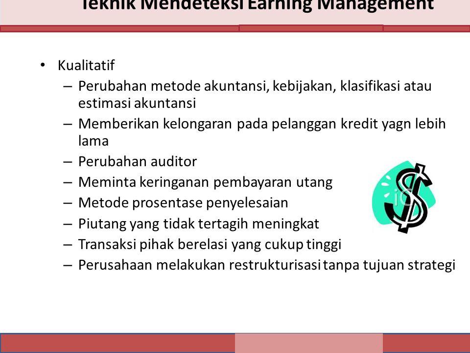 Teknik Mendeteksi Earning Management