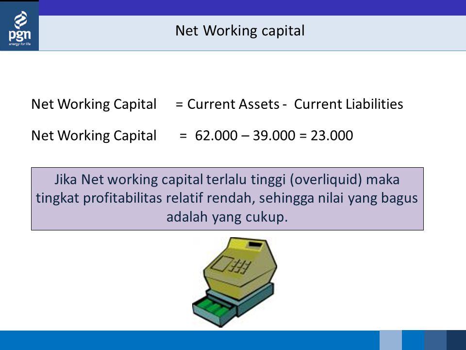 Net Working capital Net Working Capital =