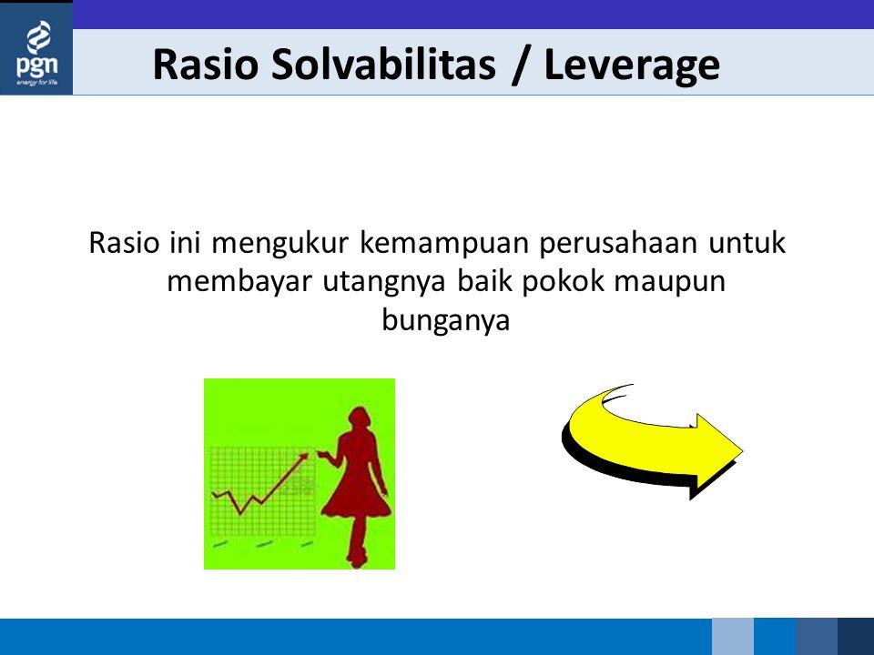 Rasio Solvabilitas / Leverage