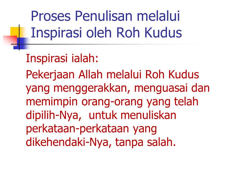 Proses Penulisan melalui Inspirasi oleh Roh Kudus