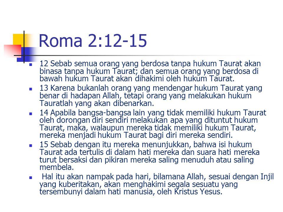 Roma 2:12-15