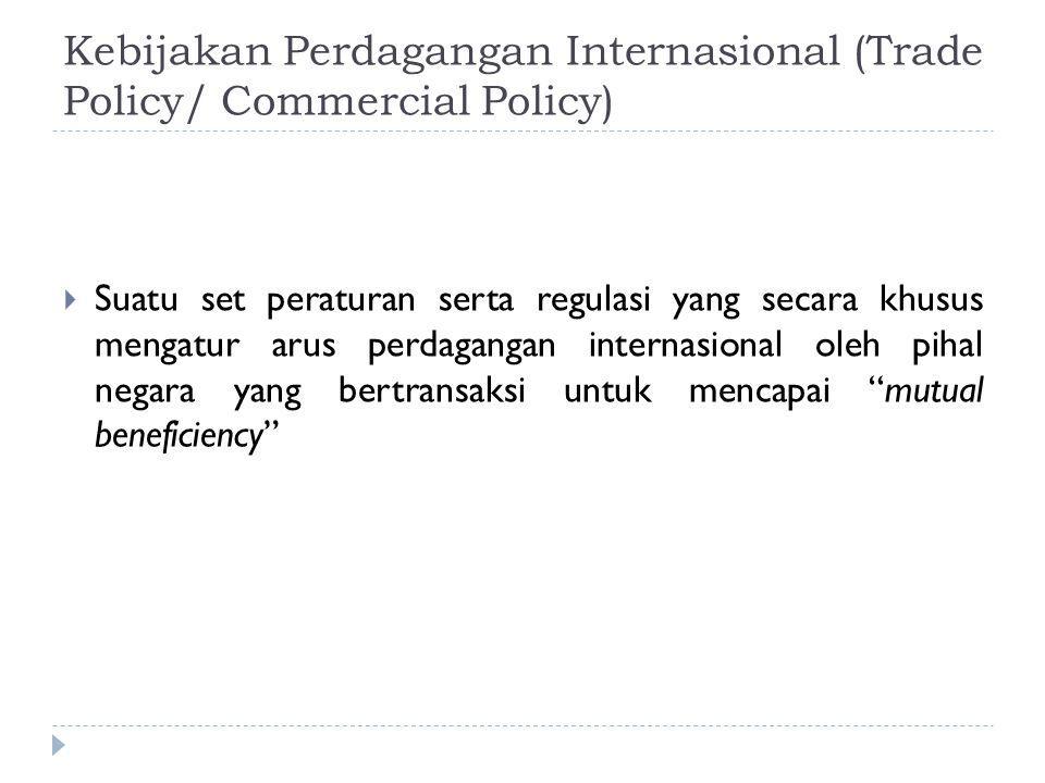 Kebijakan Perdagangan Internasional (Trade Policy/ Commercial Policy)