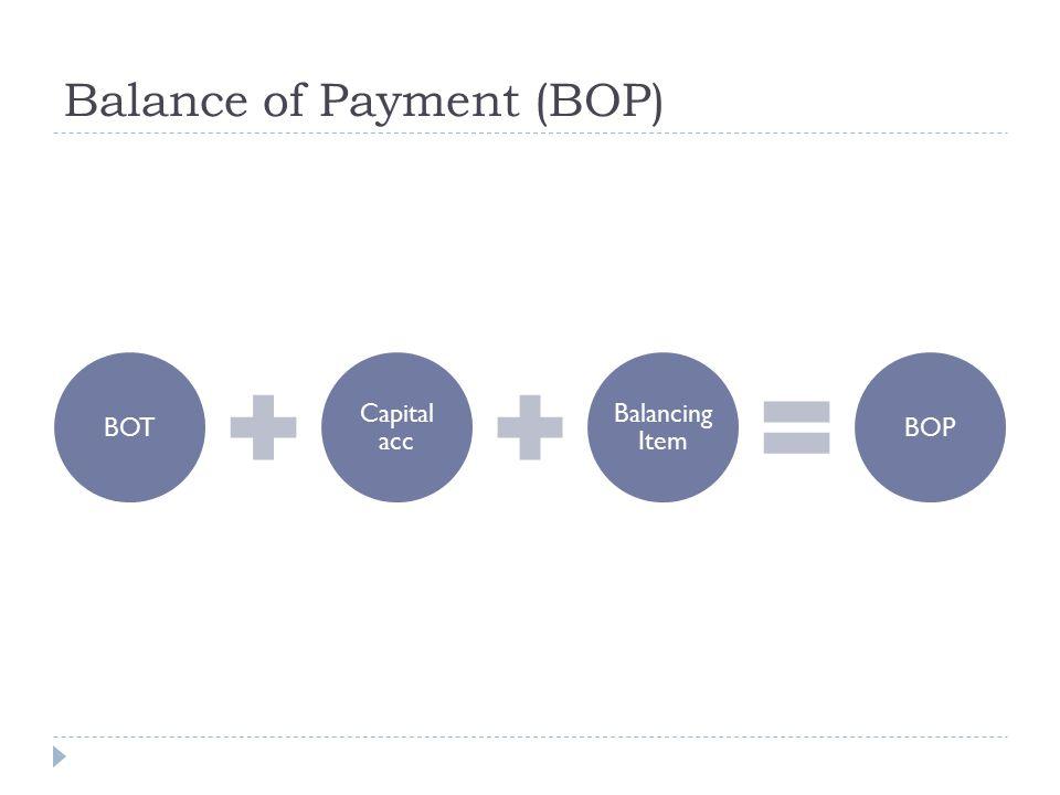 Balance of Payment (BOP)