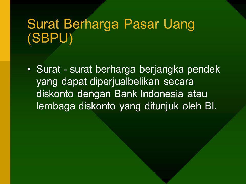 Surat Berharga Pasar Uang (SBPU)