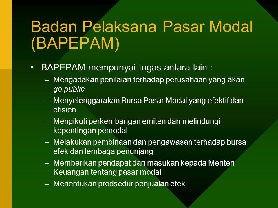 Badan Pelaksana Pasar Modal (BAPEPAM)