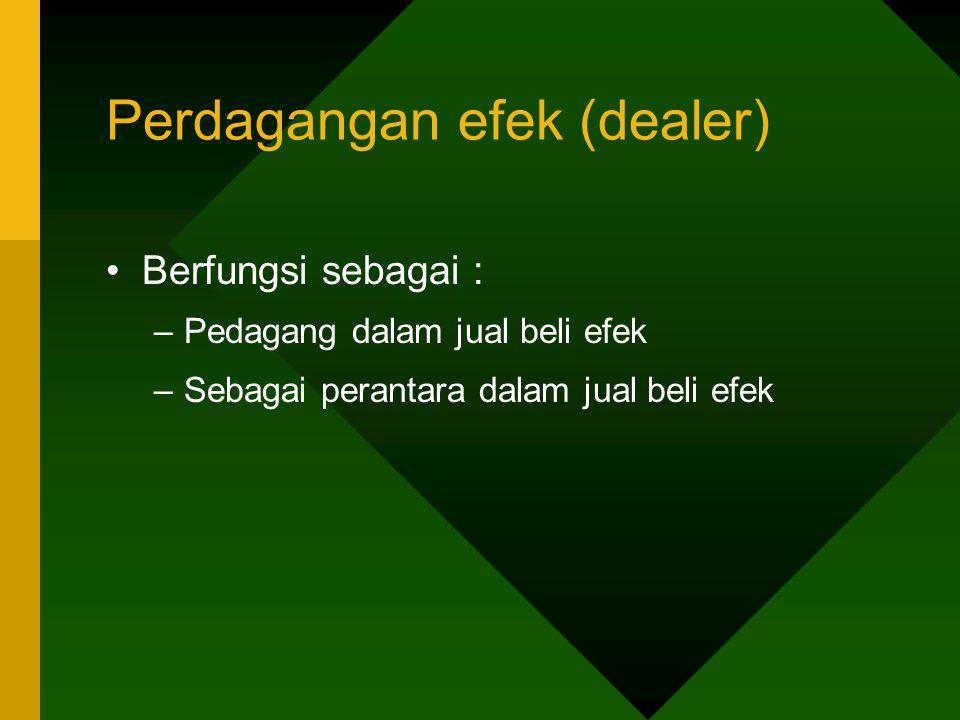 Perdagangan efek (dealer)