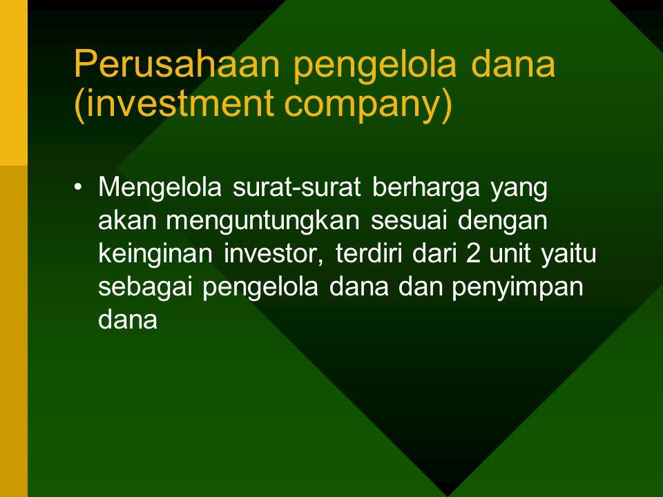 Perusahaan pengelola dana (investment company)