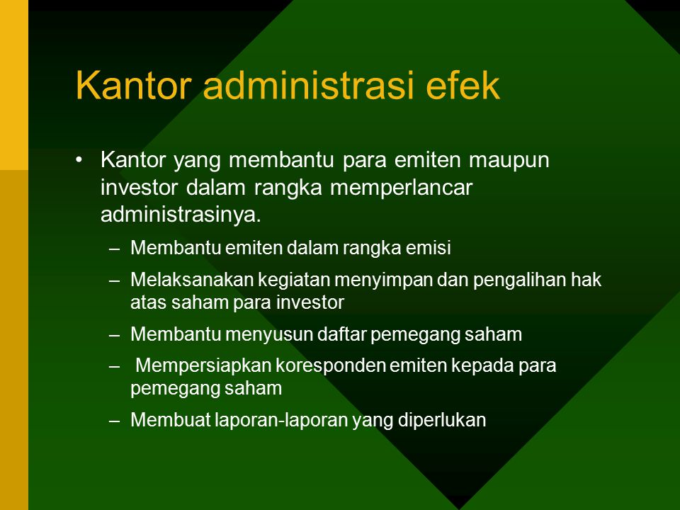 Kantor administrasi efek