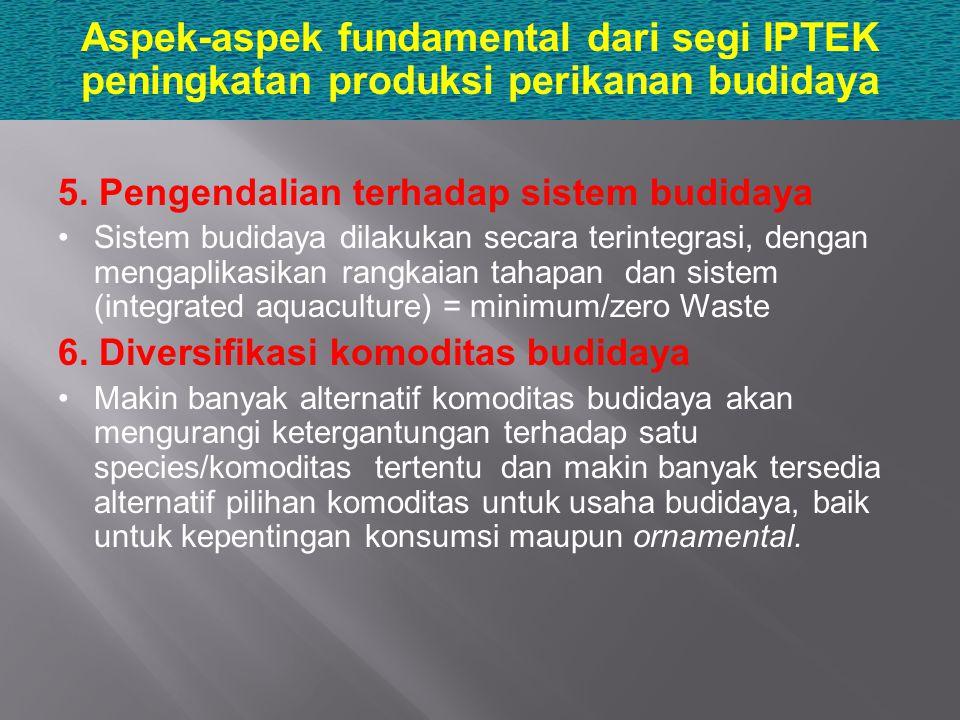 Aspek-aspek fundamental dari segi IPTEK peningkatan produksi perikanan budidaya
