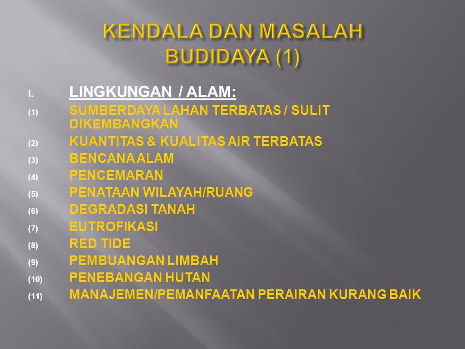 KENDALA DAN MASALAH BUDIDAYA (1)