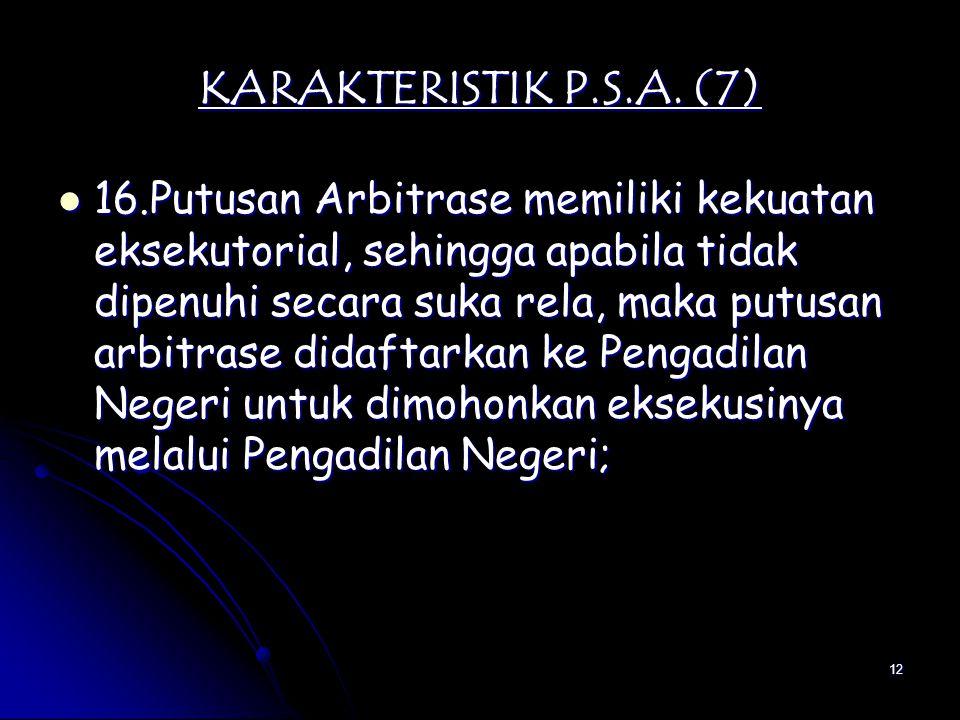 KARAKTERISTIK P.S.A. (7)