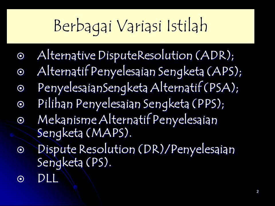 Berbagai Variasi Istilah