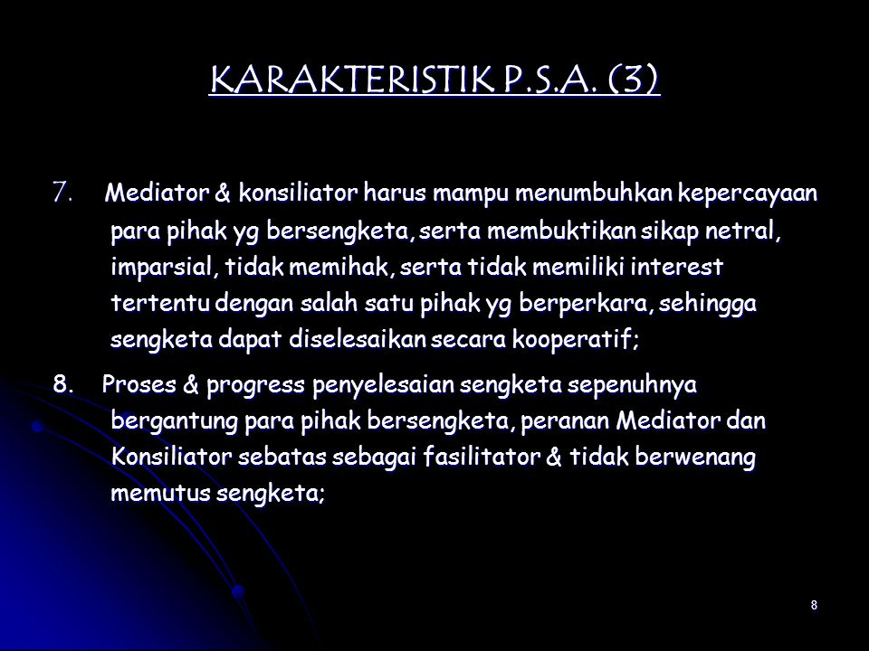 KARAKTERISTIK P.S.A. (3)