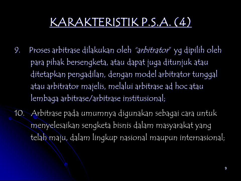 KARAKTERISTIK P.S.A. (4)