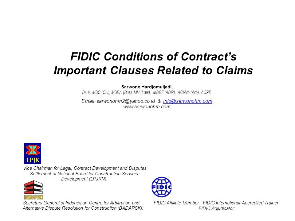 FIDIC Conditions of Contract's Important Clauses Related to Claims