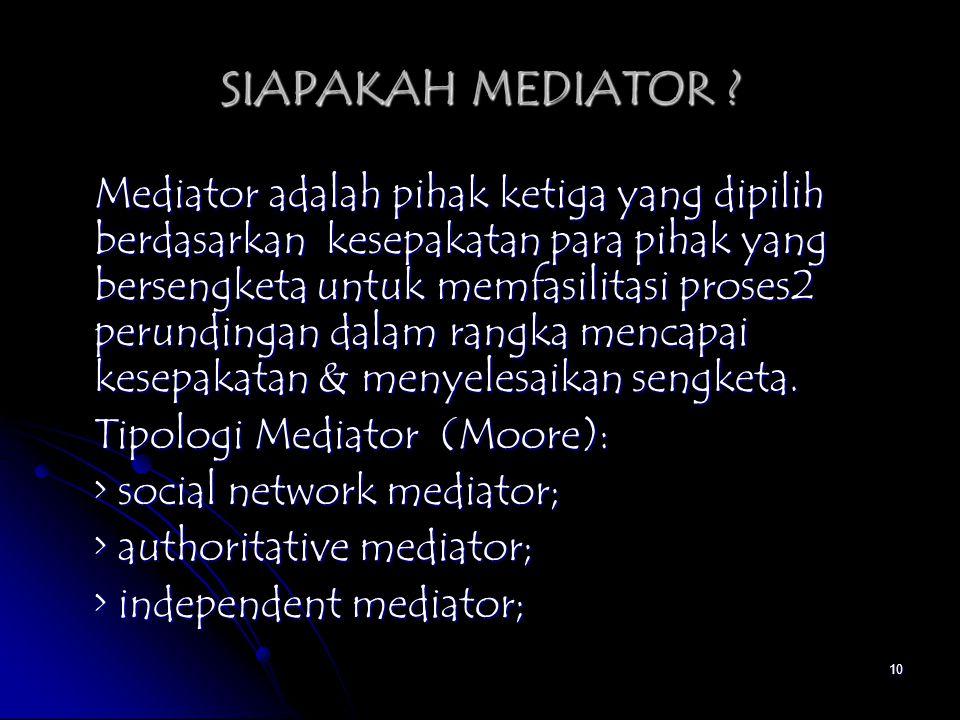 SIAPAKAH MEDIATOR