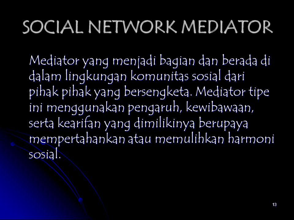 SOCIAL NETWORK MEDIATOR