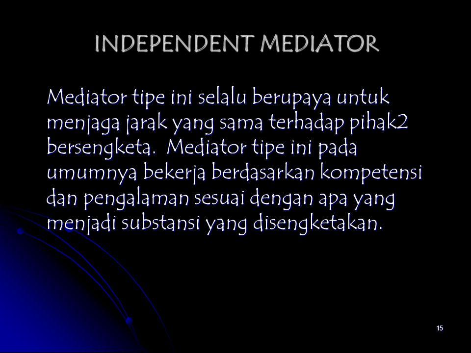 INDEPENDENT MEDIATOR