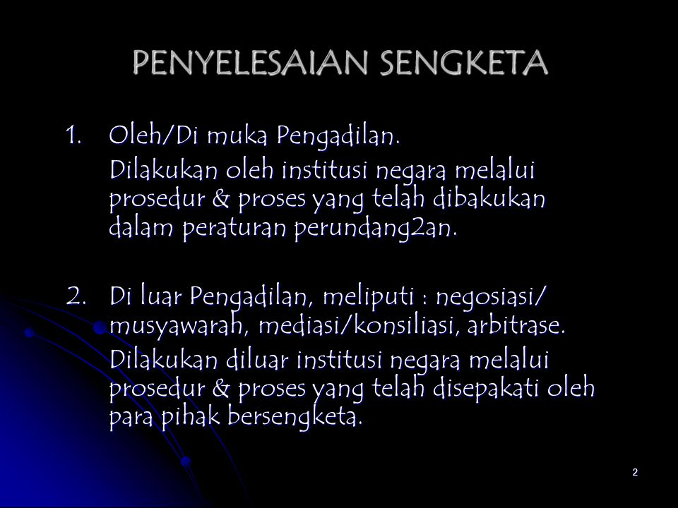 PENYELESAIAN SENGKETA