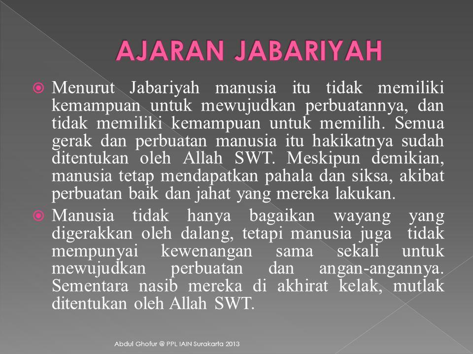 AJARAN JABARIYAH