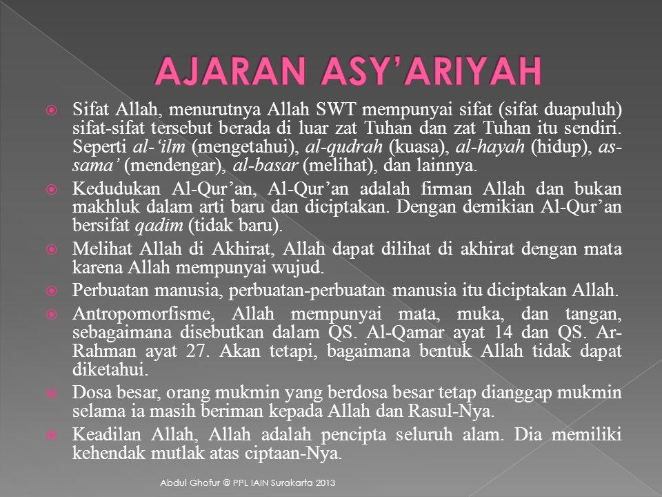 AJARAN ASY'ARIYAH