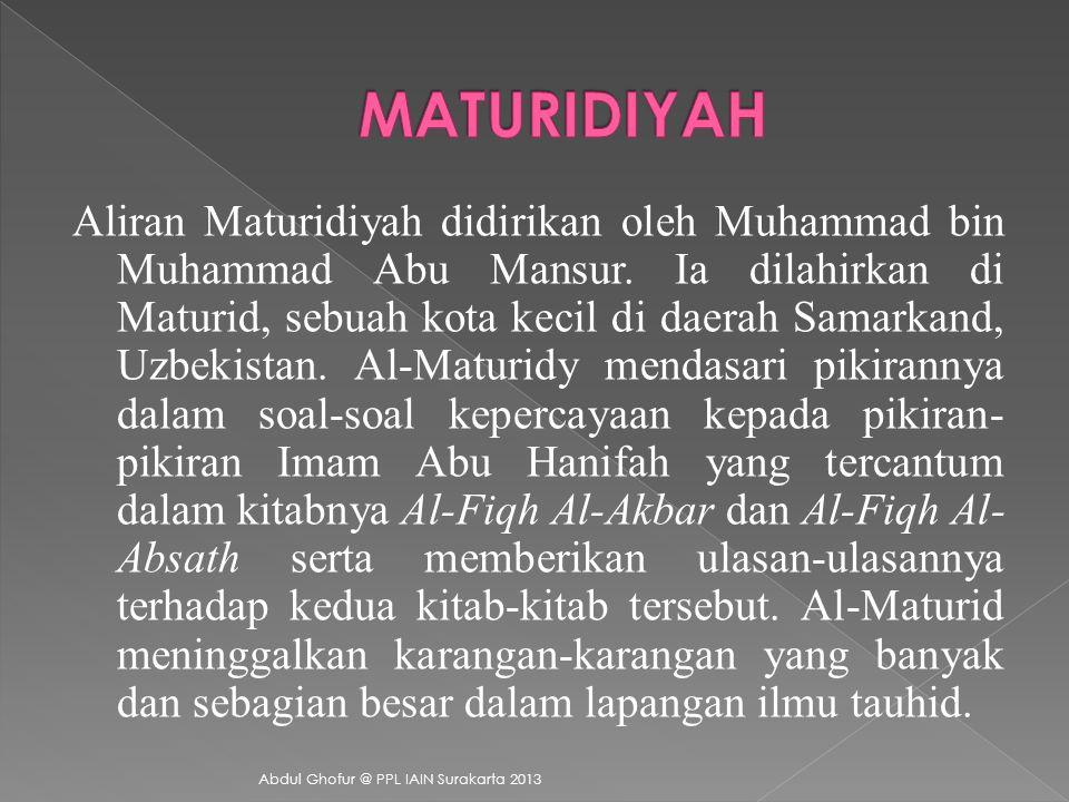 MATURIDIYAH