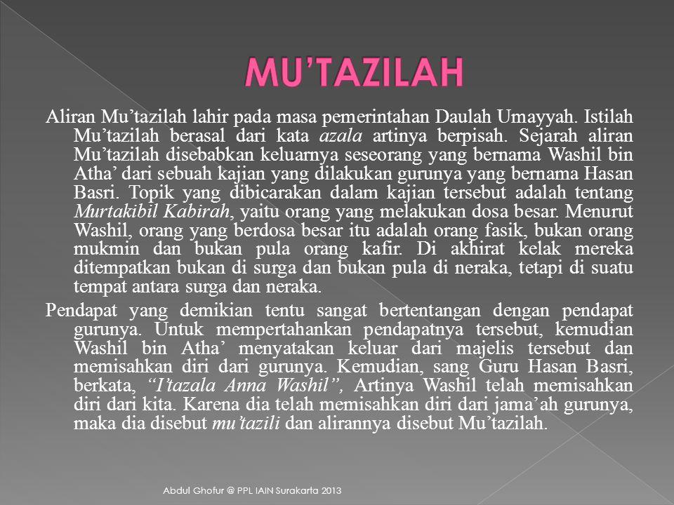 MU'TAZILAH