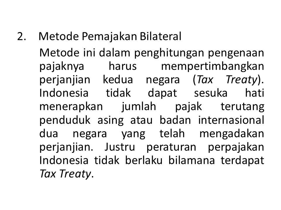 Metode Pemajakan Bilateral