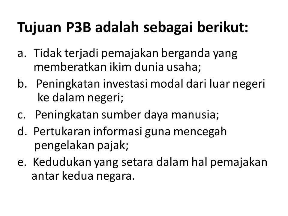 Tujuan P3B adalah sebagai berikut: