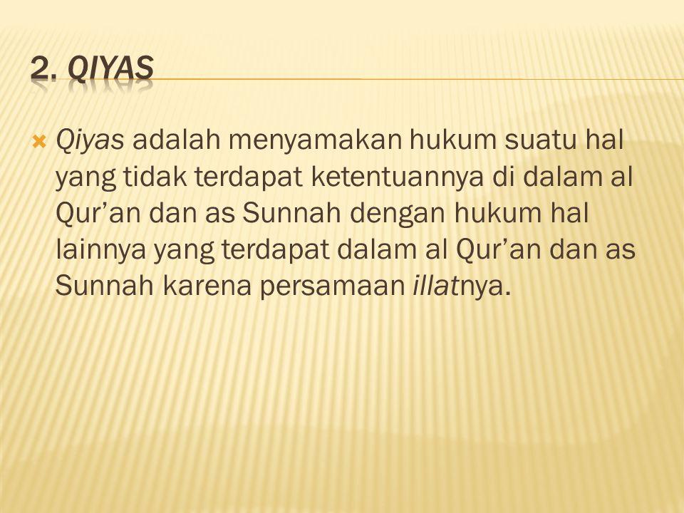 2. Qiyas