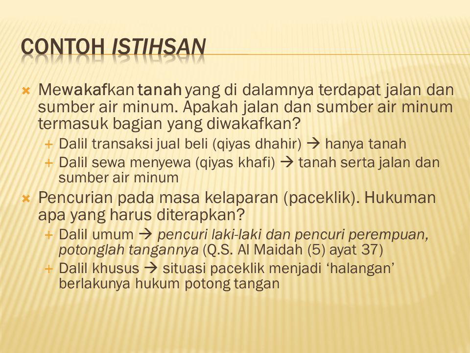 Contoh istihsan